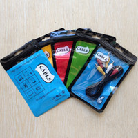 11 * 18 10.5 * 15 14 * 20 Zipper Plastique sac de vente au détail Paquet trou trou Poly emballage pour câble USB poly opp sac d'emballage pour téléphone câble Cordon