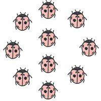 10 PCS coccinelle broderie patches pour vêtements fer patch pour vêtements applique couture accessoires autocollants badge sur vêtements fer sur patch DIY