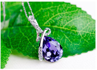 Swarovski Crystals Necklace 925 Sterling Diamond Pendant Cry...