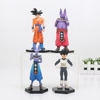4Pcs / Set Dragon Ball Z figure Goku Champa Beerus Vegeta Pvc Anime Drago Ball Z Azione Figure Modello Giocattoli Dragon