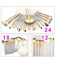 12 18 24pcs Set Makeup Brushes Kit Professional PU Bag Cosme...