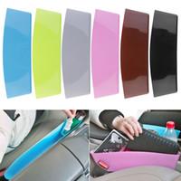 6色のカーシートギャップ収納ボックス車のスタイリング、新しいユニバーサルカーのインテリアアクセサリー収納オーガナイザーポケット