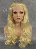 Iwona Cheveux Jolie Ondulée Longue Blonde Blonde Perruque