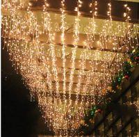 AC 220 V-240 V EU AU Stecker 5 Mt vorhang eiszapfen lichterketten Weihnachten Garten lampen Eiszapfen Lichter Weihnachten Hochzeit Dekorationen