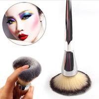 Sehr große Schönheit Puderpinsel Blush Foundation Runde Make-up-Werkzeug Große Kosmetik Aluminiumbürste Weiches Gesicht Make-up