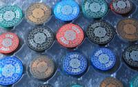 Meuleuse 50mm 60mm 4parts Mandala Design Accessoires de tabagisme en métal Comminuter avec poignée roulant pour les épices d'herbes à tabac