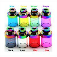 Pyrex Color Glass 510 نصائح بالتنقيط الفولاذ المقاوم للصدأ بالتنقيط غيض المعبرة البريد السيجارة خزان بالتنقيط غيض الأنا WAX Kanger protank Aspire Atomizers