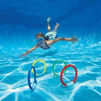 Piscine jouet de plongée en eau piscine jeu de plage été jouet bâton de vacances anneau 4PCS / set