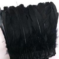 Гусиные перья обрезки для обрезки 2-х годов Гусиное перо обрезки Швейные платья костюмы гусиные перья обмыванные окрашенные ленты перо