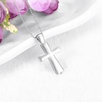 Maschio nero St Peter's invertito croce cenere pendente collana titolare per gli uomini in acciaio inox Pet / cenere umana gioielli cremazione
