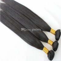 10% korting op Europees Menselijk Haar Weave 3bundles Remy European Hair Extensions Natural Color Silky Straight Greatremy Drop Shipping