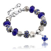 Silver Charms Bead Bracelet Women Wedding Jewelry European S...