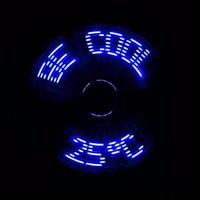 Портативный мини гибкая гусиная шея USB LED температура вентилятор показать письмо слова для ПК ноутбук ноутбук Power bank
