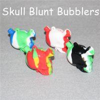 Vendita calda Silicone Blunt Bong Joint Boupbler Blunt Blunt Piccolo viaggio Mini Bongs Tubo di acqua Piccoli tubi Silicone Blunt Suggerimenti