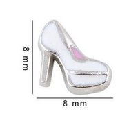 20PCS lot High heel Shoe Floating Locket Charms Fit For Glas...