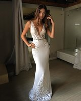 Berta 2018 Vintage Mermaid Wedding Dress Lace Sexy V Neck We...