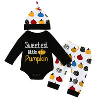 infant toddlers pumpkin clothes sets newborn toddlers Hallow...