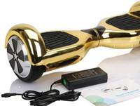 Chromroller führte Rgb elektrischen hoverboard Selbstbalancenroller 6.5 Zoll samsung Batterie 4400mah zwei Rad intelligenter ausgleichender Roller
