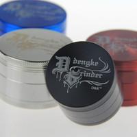 """""""DENGKE"""" Grinder Metal Grinder Top Smerigliatrici per tabacco Diametro 50mm 4 Parti Colori Mix Tabacco a base di erbe CNC DHL Free"""