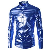2016 neue heiße verkaufen die meiste Flut! Fashion Club Herrenbekleidung Amerikanisches Casual-Stage-Langarm-Shirt All-Match-Trend Soft Gloss Tops