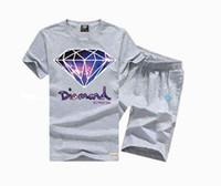 888 s-5xl Hip hop Diamond Supply T Shirts Men O Neck Men Free Shipping T-Shirt + Shorts