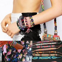 Wholesale Womens Handmade Mixed Color Cord Braided Bracelet ...