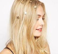 Para mujer señora estrella luna triángulo corazón oro remolino primavera clips de pelo tolla de pelo regalo de oro aleación de oro joyería de joyería de joyería de pelo joyería de la boda de la boda
