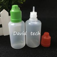 cap di vendita di trasporto Bottiglie di plastica E-sigaretta prova di bambino e di lunga sottile punta del contagocce bottiglie di plastica del contagoccia 30ML PE