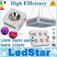El precio más bajo de la fábrica COB 150W 300W 600W 900W 1350W 54 * 3W led crece luces El espectro completo llevó la planta hidropónica crece las luces led