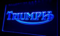 LS044- b Triumph Motorcycles Services Repairs Neon Sign home ...