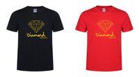 Летние хлопчатобумажные мужские футболки мода с коротким рукавом напечатанные алмазные поставку СО мужские топы тройники скейт бренд хип-хоп спортивная одежда