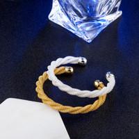 10pcs / lot cadeau chaud prix usine 925 breloque en argent bracelet personnalité lignes torsadées bracelet en or 18 carats bijoux de mode 1826