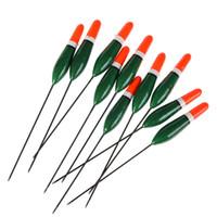 großhandel professionelle grün 16 cm 3g 10 teile / satz feiern floats paulownia holztasche flotteur pesca peche float tool