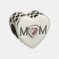MOM charms sterling silver Fits For Pandora Style Bracelets ...
