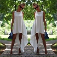 New arrival!!Women Summer Bohemian White Irregular Beach Dre...
