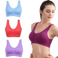 Vente en gros-New Retail Girls Femmes Sports Bra Gilet Rembourré Crop Tops Sous-vêtements No Wire-jante Bras
