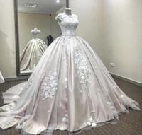 Image réelle Dit Mhamad 2020 Blush Robes de mariée arabes Dubai Robes de mariée robe de bal Vintage robe de mariée maternité robes de mariée enceintes