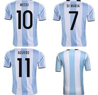 New 2018 World Cup Argentina home soccer Jersey 18 19 MESSI ...