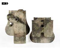 Новый полимер сохранение Roto кобура и двойной журнал кобура подходит 1911 тактический стиль