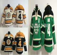 Factory Outlet, 4 Bobby Orr Hockey à capuche Old Jersey Hoodies Maillots Sweatshirt, cousu cousu numérotation lettrage.