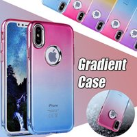 Gradient Color Case Soft TPU Ultra Thin Slim Electroplated P...