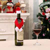 2018 New Year Wine Bottle Cover Little Hat & Scarf Set For C...