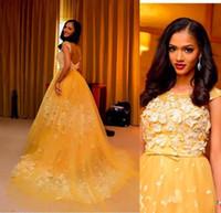 Prinzessin Style Sweety Celebrity Kleider 2016 Applique Ballkleider Abendkleider mit offenem Rücken Schöne Festzug Kleider