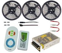 20m 15m 10m 5m Dual Color LED Strip Lights 5050 SMD Vattentät IP65 Reel Lights + RF Fjärrkontroll + Strömförsörjningsadapter Kit CE ROSH