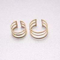 2016 moderno tercer anillo de apertura de oro chapado en plata metal encanto de la manera simple joyería de las mujeres el anillo