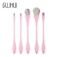 5 stücke Neue Ankunft Make-Up Pinsel Set Foundation Blending Erröten Pinsel Tool Kit Set Frau Schönheit Kosmetik Werkzeuge