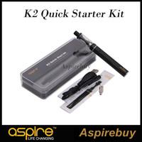 100% original aspire k2 kit de partida rápida 1.8 ml k2 tanque 800 mah k2 bateria recarregável micro usb porta de carregamento portátil kit 1.6ohm bobina bvc