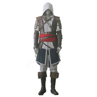 Assassin's Creed IV 4 Black Flag Edward Kenway Costume intero Set completo Custom Made Spedizione Express