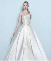 1801eba3739c Aggiungi al Carrello · 2016 argento abiti bianchi da sposa eleganti abiti  convenzionali lunghi bella Abiti da sera senza spalline