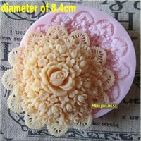Top Quality Food Grade Silicone fondente Stampi Rose Flower Cake Chocolate Biscuit Bakeware Stampi Sugarcraft Flowers Tools